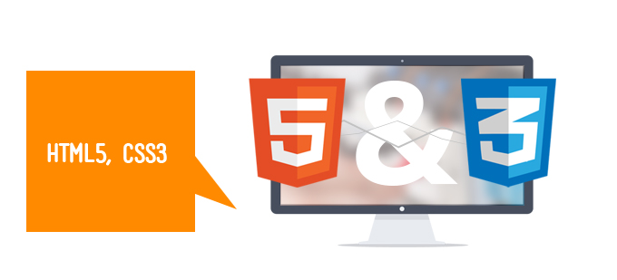 Html5 and CSS3 are used