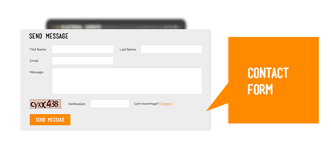 Contact form's screenshot